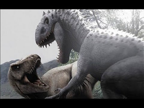 Jurassic world (espanol) T-Rex Vs. Indominus Rex