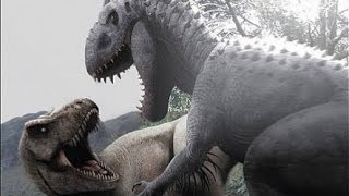 jurassic world espanol t rex vs indominus rex