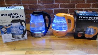 Hamilton Beach vs Ovente | Electric Water Kettle | Comparison Review and Demo | Tea Kettle