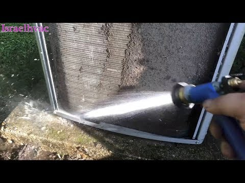 Cleaning a HVAC Condenser Coil