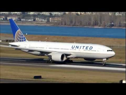 *RARE* United Airlines Boeing 777-200 [N772UA] start-up, taxi, and takeoff from PDX