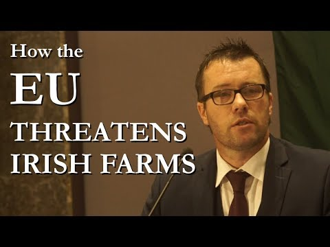 Dairy Farmer John Claffey from Offaly speaks at IREXIT Galway Conference