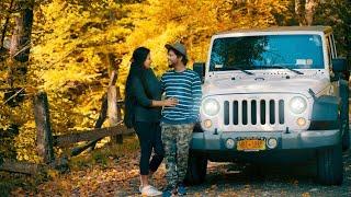സ്വർഗത്തിലൂടെ ഒരു ജീപ്പ് യാത്ര.....   Trip Couple - Jeep Road Trip 2018 | Vermont Fall Foliage in 4K