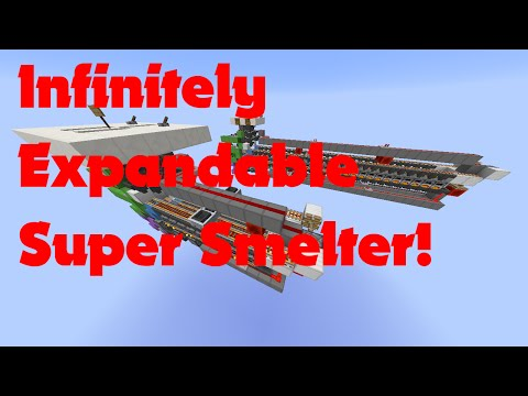 Minecraft - Infinitely Expandable Super Smelter Tutorial!