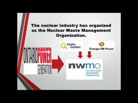 Canada Update 2017 on High Level Nuclear Fuel Waste