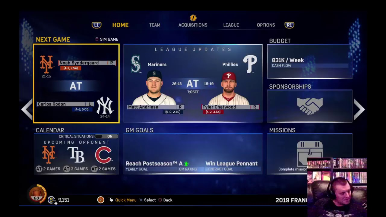 MLB The Show 17 PS4 Franchise as Yankees 2019 Game 38