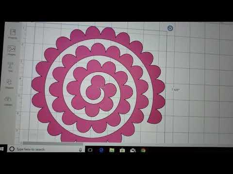 3D swirl flowers with Cricut