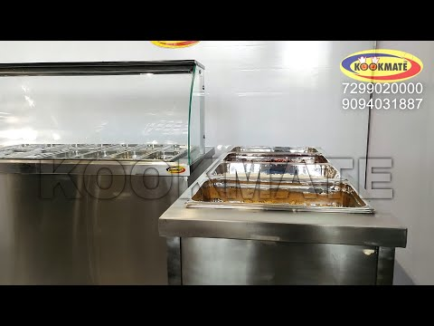 Hot Service Counter /  Bainmarie / Food Warmer - Factory Price - Kitchen Equipment Manufacturer