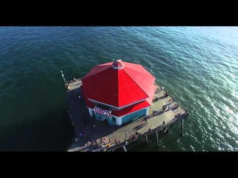 Huntington Beach - First video with DJI Phantom 3 Pro