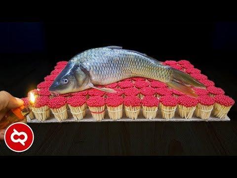Bakar Ikan Pakai Korek Api, Hasilnya Mengejutkan! 10 Eksperimen Unik Menggunakan Batang Korek Api