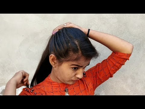 Beautiful Cute Hairstyle for girls || Easy Hairstyle in 2min || Quick hairstyle for party \collage thumbnail