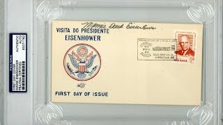 MAMIE DOUD EISENHOWER Hand Signed First Day Cover - PSA/DNA Encapuslated