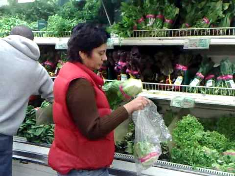 A. shops for produce at Berkeley Bowl