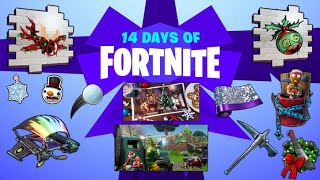 ALL REWARDS FOR 14 DAYS OF FORTNITE LEAKED!!