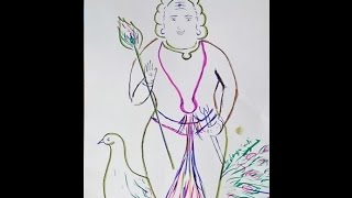 How To Draw Lord Kartikeya, Murugan , Subramaniyam swamy