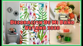 DECORACIÓN DE MI BAÑO PARA VERANO!! IDEAS PARA DECORAR UN BAÑO PEQUEÑO! VERANO 2020 ☀️🏝