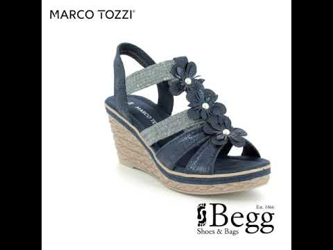 Marco Tozzi: Damen Sandalen Sommer BlauNavy NEU