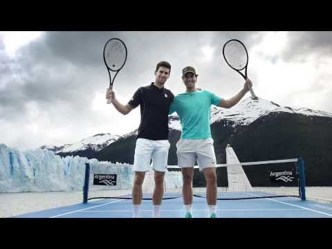 Nadal and Djokovic in Argentina 720p HD - Tennis on the Millenary Ice - Glaciar Perito Moreno - 2013