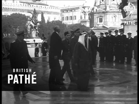 King Talal Of Jordan I In Rome (1952)