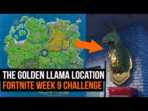 Where To Find The Golden Llama | FORTNITE SEASON 2 WEEK 9