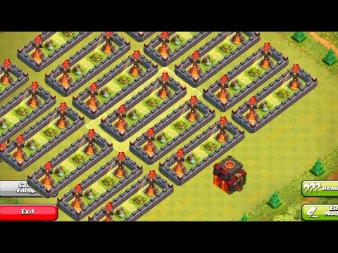 Gem Box & Gravestone Farming Base! Clash of Clans Speed Build!