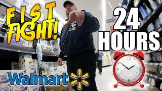 24 HOUR CHALLENGE IN WALMART (GONE WRONG!)