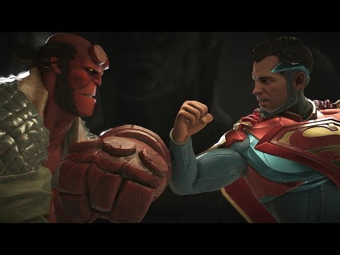 Injustice 2 : Hellboy Vs Superman - All Intro/Outros, Clash Dialogues, Super Moves