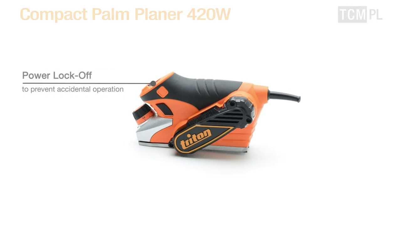Triton TCMPL Compact Palm Planer 420 W NEW