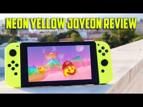 Nintendo Switch NEON Yellow Joy Con Review + Unboxing