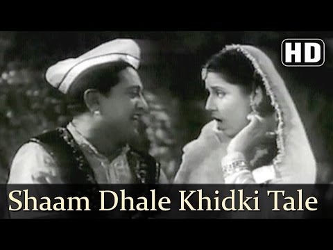 Shaam Dhale Khidki Tale  Albela Songs  Bhagwan Dada  Geeta Bali  Lata Mangeshkar  Filmigaane