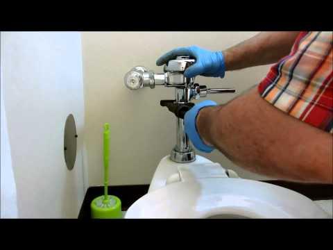 toilet sloan flushometer valve repair/replacement