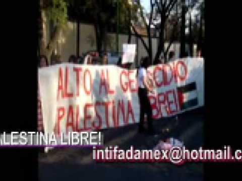 PROTESTA EMBAJADA DE ISRAEL EN MEXICO 2009