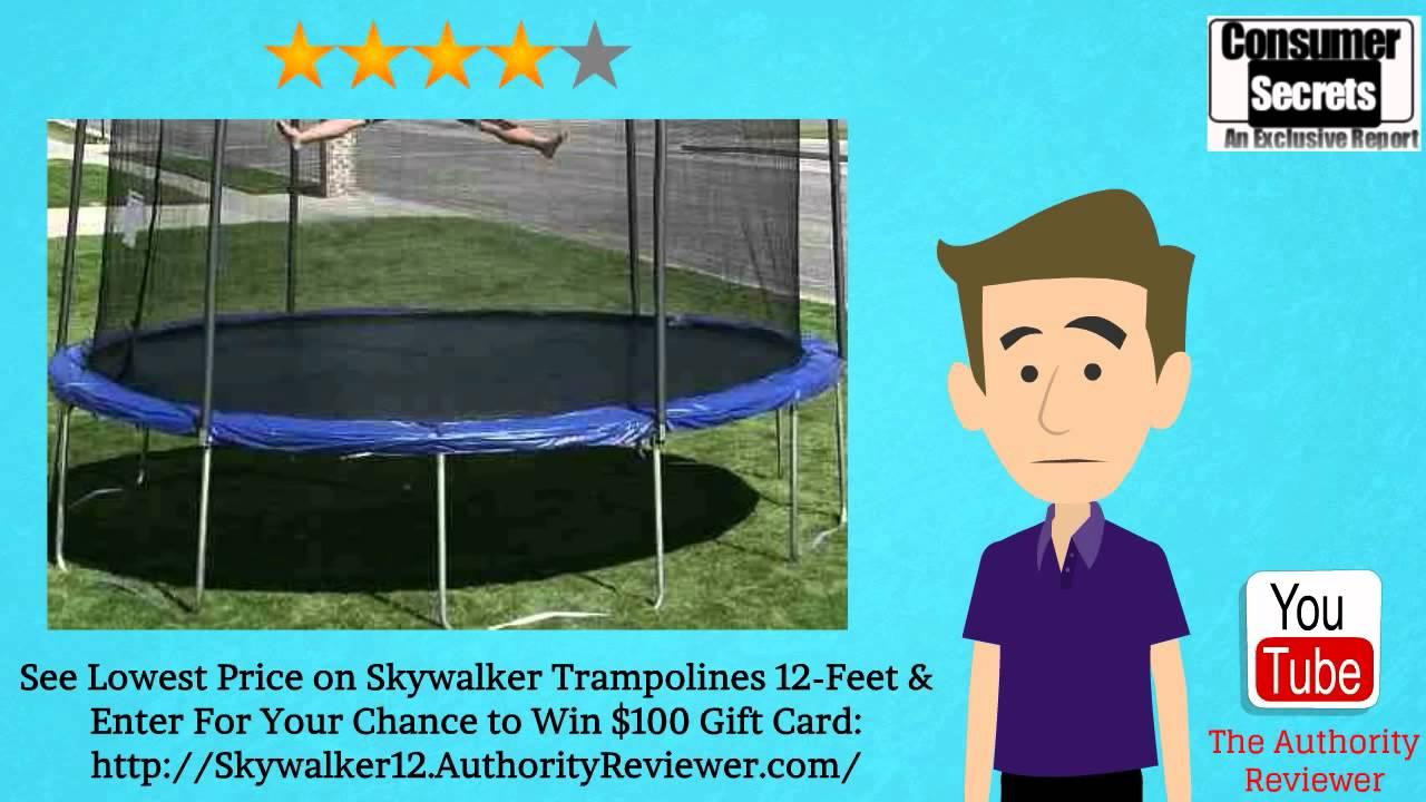 review u0026 sale skywalker trampolines 12feet round trampoline youtube