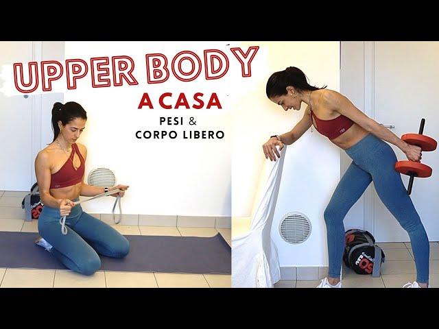 Braccia forti e scolpite - allenamento completo upper body | Silvia Fascians
