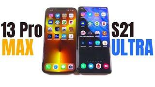 iPhone 13 Pro Max vs Galaxy S21 Ultra Speed Test!