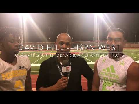 Pregame Interview with Mission Viejo's Olaijah Griffin & Akili Arnold by HSPN Sports David Hill
