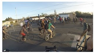 Critical Mass Bike Ride in Arcata, California