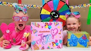 Mystery Wheel Picks Our JoJo Siwa Bows & Toys! Subscription Box Reveal!
