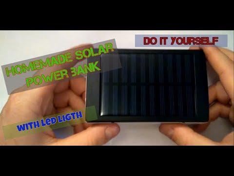 HomeMade Power Bank - Solar Power Bank with LED Light / DIY Power Bank