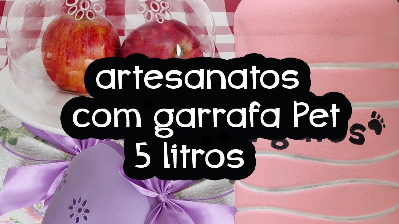 3 ARTESANATOS COM GARRAFA PET 5 litros, NÃO JOGUE FORA, do Lixo ao luxo