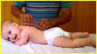 Funniest Baby Reactions When Massages - Hilarious Fails