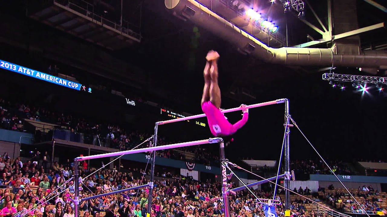 Simone Biles Uneven Bars 2013 At Amp T American Cup Youtube
