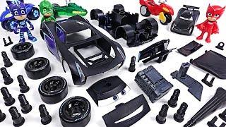 PJ Masks! Fix the broken Pixar Disney Cars 3 Jackson Storm with Model Assembly Kit! #DuDuPopTOY