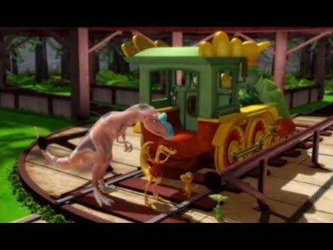 Поезд динозавров Удивительный Криолофозавр Мультфильм про динозавров