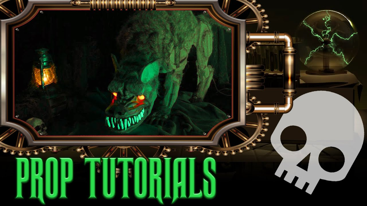 animatronic werewolf homemade halloween prop youtube