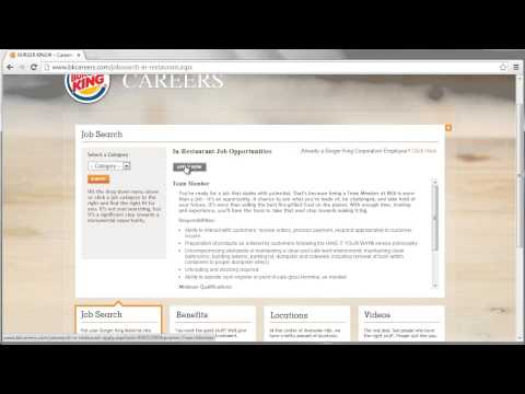 Burger King Application Online Video