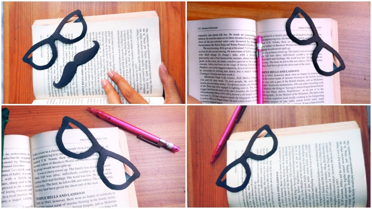 Glasses Bookmark | DIY (Easy) - YouTube
