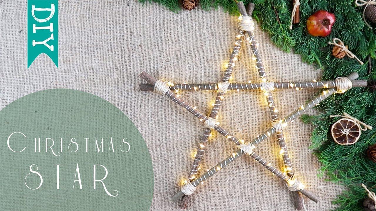 Led Star Light Diy How To Make Christmas Lights 🎄 Using