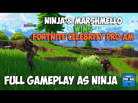 Ninja & Marshmello Wins Fortnite Celebrity Pro-Am (Full match) - As Replay royale