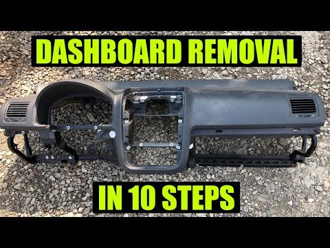 TUTORIAL: How To Remove Dashboard VW Golf Mk5, Jetta, GTI, Rabbit In 10 Steps